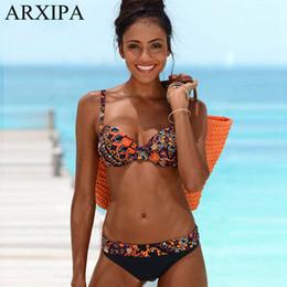 7392eaad7c286 Big Cup Swimwear NZ - ARXIPA 2019 Push Up Sexy Bikini Set Underwire Women  Swimwear Two