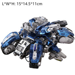 diy boys toys UK - 3D metal puzzles DIY boy cool toy and gift siege tank model high level silver blue