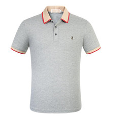 Wholesale gray polo shirts for men resale online – for mens T shirt Designer common sense Spring Summer red green stripe letter print polo men Tee Casual Top shirt XXS gucci
