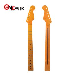 $enCountryForm.capitalKeyWord Australia - 22 Fret Yellow Gloss Maple Guitar Neck Maple Fingerboard with Black Dot for ST FD Electric Guitar Replacement