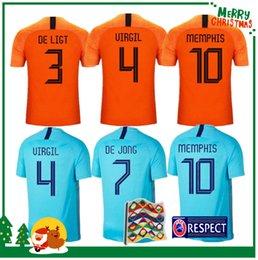 2019 2020 Camisas de futebol da Holanda DE JONG camisa de futebol da Holanda DE LIGT VAN DIJK VIRGIL camisola STROOTMAN MEMPHIS PROMES futebol venda por atacado