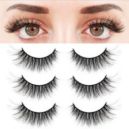 Natural Look False Eyelashes Australia - 3 Pairs False Eyelashes Synthetic Fiber Material| 3D Mink Lashes| Natural Round Look| Reusable| 100% Handmade & Cruelty-Free