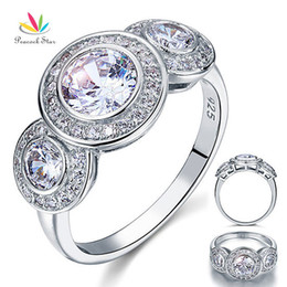 Deco Plants Australia - Peacock Star Art Deco 2.5 Carat Solid 925 Sterling Silver Wedding Engagement Ring Jewelry Cfr8089 Y19051002