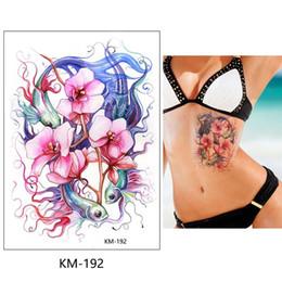 $enCountryForm.capitalKeyWord Australia - Bikini tattoo stickers large flower shoulder arm Sternum tattoo sleeve body back paint Ruby necklace summer girls Bikini Decoration