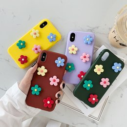 iphone plus 3d NZ - 3D Flower Phone Cases For iPhone 6 6s 7 8 Plus X XS Max XR Drop-resistant Anti-scratch Dirt-reisistant Attractive Non-slip Cute Shell Covers