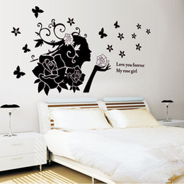 Nursery Wall Stickers For Boys Australia - ELEGANT Wall decals waterproof Stickers for baby boy kitchen Bedroom Bed Living Room Background Wall Decoration Stickers