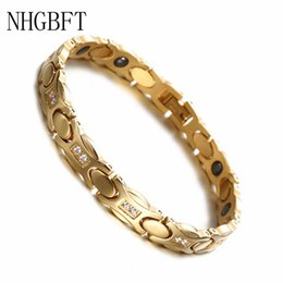 $enCountryForm.capitalKeyWord Australia - NHGBFT Women Gold color Health Care Bracelet For Mens Stainless Steel Magnetic Bracelet Hand Chain