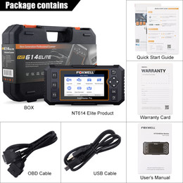 ford engines NZ - FOXWELL NT614 Elite OBD2 Scanner Auto Car Diagnostic Scan Tool Engine ABS SRS AT Oil EPB Reset ODB2 OBD Code Reader Free Update