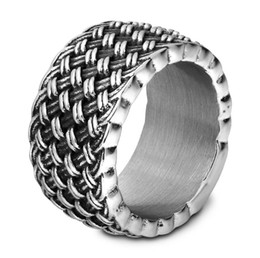 Mens Wholesale Cluster Rings NZ - New Luxury Stainless Steel Ring High Quality Hip Hop Mens Ring Watchband Style President Rings 11mm
