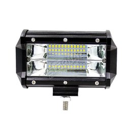 Rear Car Parts Australia - free 2x 72W led light bar spot flood car fog lamp lighting parts for off road ATV UTV 4x4 automotive truck 12V 24V led work light bar