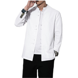 6bf829ca500 5XL Plus Size 2019 quality white Pure cotton Traditional Tang suit Jacket  Tai Chi Clothing shaolin kung fu wing chun shirt 60206