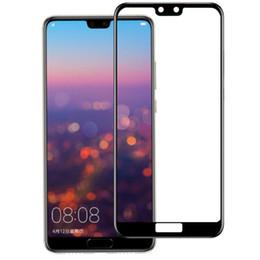 Film de protection pour écran de téléphone portable POUR: Huawei P20 P30 Mate 10 20 Enjoy7 8 9 pro plus le film d'acier pour écran de sérigraphie complet en Solde