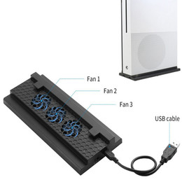 Cool Fan Slim Australia - One S Cooling Dock Vertical Stand 3 High Speed Fans 2-Port USB Charing Data Syncing L   H Fan Speed Switch for Xbox One Slim
