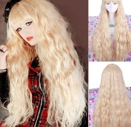 $enCountryForm.capitalKeyWord Australia - LL song wig.00916 Charm Blonde Hair Wavy Long Style Wigs Cosplay Costume Wig