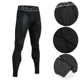 Body leggings online shopping - Designer Leggings running basketball Mens compression pants gym body building outdoor training jogging trousers mens designer trousers