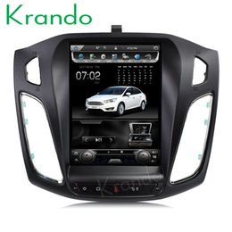 "Ford Focus Player Australia - Krando Android 7.1 10.4"" Vertical screen car dvd radio gps navigation player for Ford Focus 2012+ multimedia system with Bluetooth"