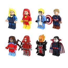 $enCountryForm.capitalKeyWord Australia - Captain America Building Blocks Black Canary Dark Phoenix Deadpool Marvel Action Figures Toys jouets pour enfants Kids Hobby Collection