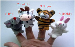 Used Toys Wholesale Australia - Wholesale 12pcs=1lot 12 Zodiac Finger Puppets Story telling Doll Kids Children Baby Educational Toys RPG use Role play Toy Group
