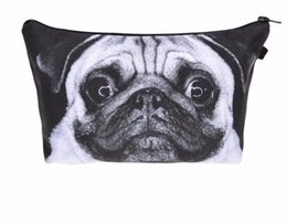 Dog Zipper Australia - Who Fashion Printing Dog Makeup Bags Cosmetic Organizer Bag Pouchs For Travel Lady Pouch Women Cosmetic Bag