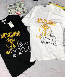 hot stamping logo 2019 - 2019SS New Luxury Brand Designer Moschinos Tee Short Sleeve Breathable Men Women Fashion Hot stamping Logo Outdoor Stree