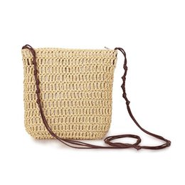 $enCountryForm.capitalKeyWord Australia - New Crossbody Small Bag Japanese Korean Style Simple Straw Woven Bag All-match Vacation Handmade Shoulderbag Women's Woven