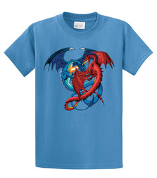 $enCountryForm.capitalKeyWord Australia - 2019 New Brand Clothing Men Cool O-Neck Tops Dragon T-Shirt Red And Blue Dragons Fightingt Shirt Design Online