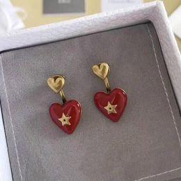 $enCountryForm.capitalKeyWord Australia - designer jewelry earring for women luxury designer earrings stud earrings for women gift Silver needle The red heart