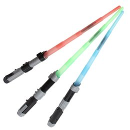 Toy Swords Wholesale NZ - Sword toys LED Swords extendable laser LED light colorful saber plastic sword cosplay boys toys 120 P L