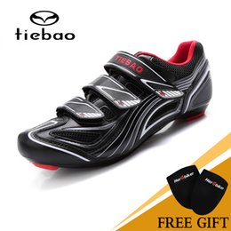 bicycles shoes NZ - Tiebao Outdoor Sports Professional Bicycle MAGIC TAPE Cycling Sports Road Highway Cycling Shoes Equipment TB16-B1235