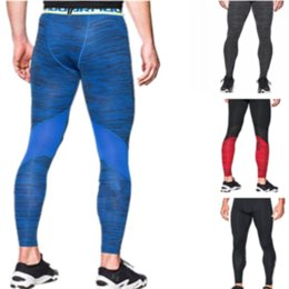 Solid Colored Leggings Australia - Men's U&A Compression Tight Leggings Under Base Layer Quick Dry Amor Slim Stretch Pants Skinny Sports Workout Gym Running Trousers C42401