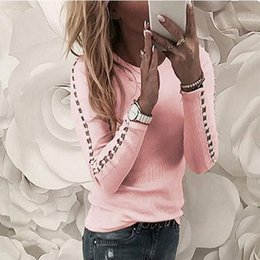 out decor NZ - Shirt O Neck Tops Decor New Fashion Street Elegant Woman Female For Ladies Casual Patchwork Hollow Out Polyester Regular