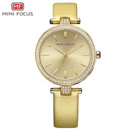 Water Resistant Wrist Watch Australia - MINIFOCUS Brand Gold Women Watches Luxury High Quality Water Resistant Montre Femme Stainless Steel 2019 Dress Woman Wrist Watch