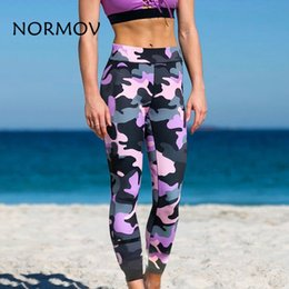 $enCountryForm.capitalKeyWord Australia - NORMOV 2018 Women's Fitness Leggings Sexy Casual Camouflage Printed High Waist Leggings Polyester Breathable Workout