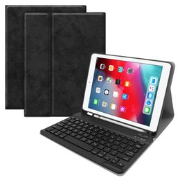 Waterproof tablet cases online shopping - Keyboard Tablet Case PU Leather Wireless Bluetooth Flip Case Stand Cover Waterproof Shockproof Anti Dust for iPad air1 pro pc