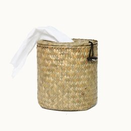 $enCountryForm.capitalKeyWord UK - Bathroom Accessory Tissue Box Straw Roll Napkins Tissue Box For Storage Holder Toilet Living Room Creativity