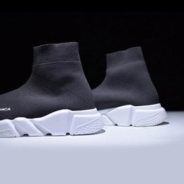 $enCountryForm.capitalKeyWord Australia - 2019 spring black socks shoes high-knit elastic breathable tennis shoes youth men and women fashion large size fitness shoes