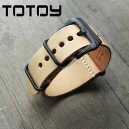 16d62748d8 TOTOY Handmade Primary Color Vegetable Tanned Leather Watchbands