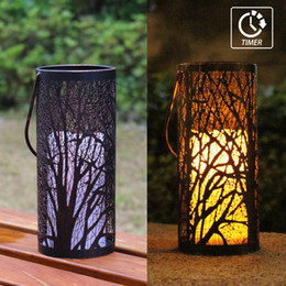$enCountryForm.capitalKeyWord Australia - WRalwaysLX Decorative Woods Lanterns with Timer Flameless Candle Light Indoor Outdoor with Hanging, Engraved Steel with Bronze Undertones