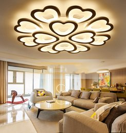 $enCountryForm.capitalKeyWord Australia - 2019 New modern LED heart-shaped ceiling lights with remote control  APP for living dining bed room kitchen home decoration