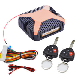 Car alarms remote Control online shopping - Keyless Entry System Car Alarm System Remotr Trunk Release LED Indicator Remote Start Stop Central Locking With Remote Control
