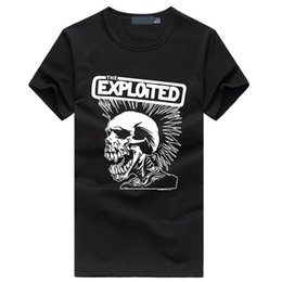 skull graphic tees NZ - The Exploited print men's fashion t-shirts Cute punk Skull Graphics brand tee shirt Hip Hop Casual Fitness homme Swag clothing