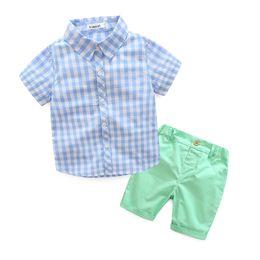 $enCountryForm.capitalKeyWord Australia - Summer boy clothes suit short sleeve shirt+short pants 2 pieces kids summer gentleman clothes suit 5 s l Free Shipping