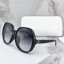 pop rounds NZ - New fashion design sunglasses 718 oversized frame round frame simple color pop style uv400 summer protection wholesale glasses top quality