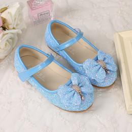 f0640a1adac Blue Shiny Cinderella Sequins Shoes Designer Fashion Luxury Brand Girl  Shoes Big Sequins Bow Designer Shoes Full Sequins Kids Formal Wear