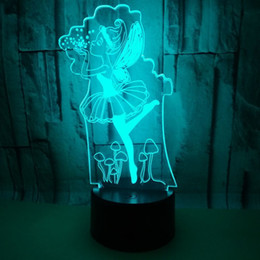 $enCountryForm.capitalKeyWord Australia - New Pattern Ballet 3d Small Night-light Colorful Touch Remote Control Led Vision Lamp Gift Figure Book System 3d Desk Lamp