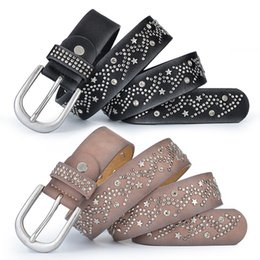 fashion hip hop girls NZ - Luxury Leisure Belts Fashions Design Shining Star Waistbands High Quality Womens Belts Famous Ladies Leather Straps Girls Hip Hop Waistband