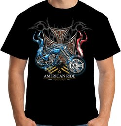 $enCountryForm.capitalKeyWord NZ - Velocitee Mens American Ride T Shirt Chopper Biker Motorcycle Bobber A17872 Men T Shirt Print Cotton Short Sleeve T-Shirt