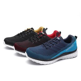 Breathable Summer Safety Shoe Australia - Summer Breathable Lightweight Safety Shoes for Men Sneakers Casual Work Shoes Protective Safety Boots Steel Toe Safty Shoes