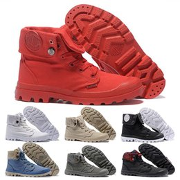 $enCountryForm.capitalKeyWord Australia - Men Women Fashion PALLADIUM Ankle Boots designer Army Green all white Gray blue red Canvas Sneakers Casual Man Trainer Sneaker Shoes