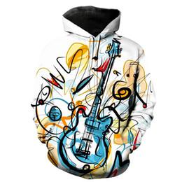 Music notes online shopping - 2019 Creative d Piano Music Note Print Hoodies Sweatshirt Men Women Long Sleeve Loose Hooded Hoody Lovers Pullovers harajuku
